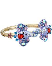 Betsey Johnson - Elephant Hinged Bangle Bracelet (blue) Bracelet - Lyst