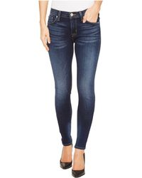 Hudson Jeans - Nico Mid-rise Super Skinny Five-pocket Jeans In Blue Gold (blue Gold) Women's Jeans - Lyst