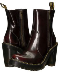 Lyst - Dr. Martens Magdalena Ii Seirene (cherry Red) Women s Boots ... 63fb154f32d7