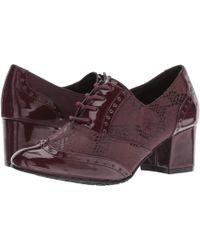 Soft Style - Gisele (bordeaux Snake/patent) Women's 1-2 Inch Heel Shoes - Lyst