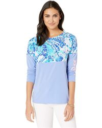 4c213b82ed3d8 Lilly Pulitzer - Finn Top (turquoise Oasis Wave After Wave) Women s  Clothing - Lyst