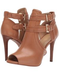 MICHAEL Michael Kors Blaze Open Toe Bootie - Brown