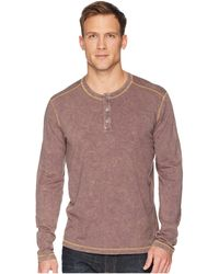 Agave - Freight Train Long Sleeve Three-button Henley (pavement) Men's Long Sleeve Pullover - Lyst