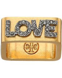 Tory Burch - Message Ring (love) Ring - Lyst