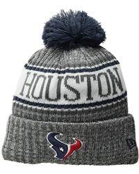 KTZ - Houston Texans Knit Sport Knit (dark Grey) Baseball Caps - Lyst