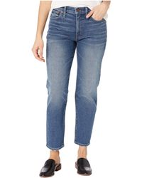 Madewell Mid-rise Classic Straight In Carsondale Wash - Blue