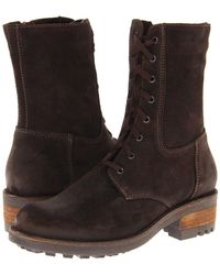 La Canadienne - Carolina (brown Oiled Suede) Women's Dress Boots - Lyst