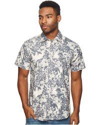 Publish - Rey Short Sleeve Button Up (blue) Men's Clothing - Lyst