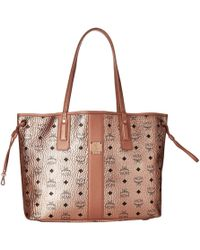 Mcm Reversible Liz Medium Per In Visetos Black Handbags Lyst