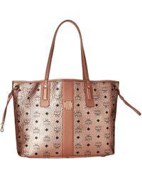 d969bd10c20bd MCM - Reversible Liz Medium Shopper In Visetos (cognac 2) Handbags - Lyst
