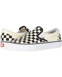 f65a8668a83304 Vans - Classic Black And Cream Checkerboard Slip-on Trainers - Womens Uk 7 -