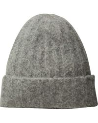 Vince - Ribbed Beanie (soft Grey) Beanies - Lyst