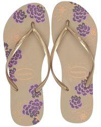 90745d131 Havaianas - Slim Organic Flip Flops (black dark Grey Metallic) Women s  Sandals -