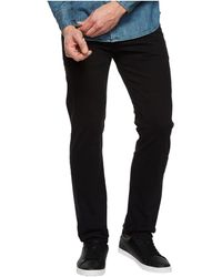 AG Jeans Tellis Modern Slim Leg Sud Sueded Stretch Sateen In Super Black