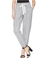 Two By Vince Camuto - Slim Leg Pull-on Drawstring Stripe Pants (rich Black) Women's Casual Pants - Lyst