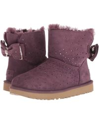 870919b963 UGG - Stargirl Bow Mini (port) Women s Pull-on Boots - Lyst