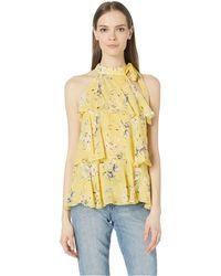 9990c2628edf24 ML Monique Lhuillier - Halter Neck Ruffle Tier Blouse (buttercup) Women s  Clothing - Lyst