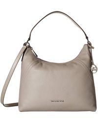 MICHAEL Michael Kors Lillie Large Pebbled Leather Shoulder Bag - Gray