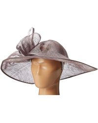San Diego Hat Company - Drs1015 Derby Asymmetrical Fascinator Hat (charcoal) Traditional Hats - Lyst