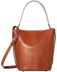 Reiss Hudson Bucket Bag - Brown