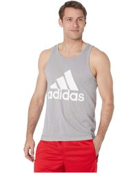 c11bd5eee13a56 adidas - Badge Of Sport Tank Top (black white) Men s Sleeveless - Lyst