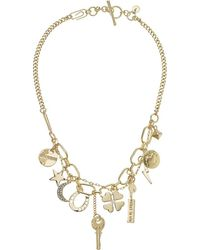 French Connection - Charm Frontal Necklace 18 (gold) Necklace - Lyst
