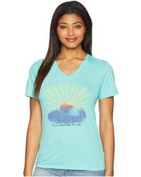 Life Is Good. - Sun Star Cool Vee Tee (cool Aqua) Women's T Shirt - Lyst