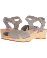 Swedish Hasbeens - Mirja Debutant (nature) Women's Sandals - Lyst