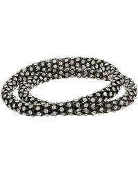 BCBGeneration 2-piece Crystal Bangle Bracelet Set - Metallic
