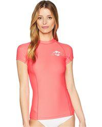 Billabong - Surf Dayz Performance Fit Short Sleeve (midnight Navy) Women's Swimwear - Lyst