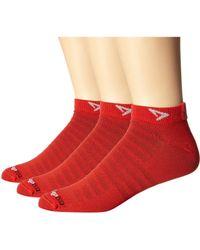 Drymax Sport - Hyper Thin Running Mini Crew 3-pack (grey) Low Cut Socks Shoes - Lyst