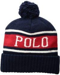 2e76cbb446958 Lyst - Polo Ralph Lauren Polo Sport Men s Printed Track Cap in Blue ...