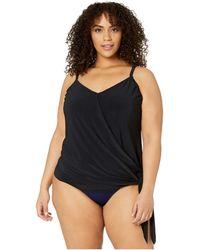 Magicsuit Plus Size Alex Tankini Top - Black