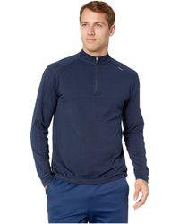 tasc Performance Carrollton 1/4 Zip (black/gunmetal) Men's Long Sleeve Pullover - Blue