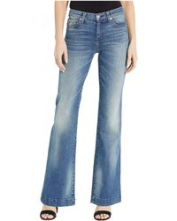7 For All Mankind Luxe Vintage Dojo In Distressed Authentic Light - Blue