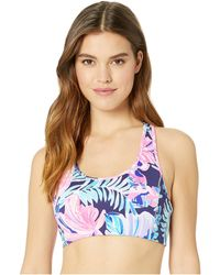 Lilly Pulitzer - Luxletic Teegan Sports Bra (multi Garden Get Away) Women's Bra - Lyst