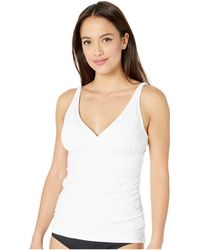Tommy Bahama - Pearl Over The Shoulder V-neck Long Tankini - Lyst