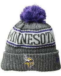 KTZ - Minnesota Vikings Knit Sport Knit (dark Grey) Baseball Caps - Lyst 062acc23c