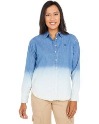 Lauren by Ralph Lauren Petite Ombre Denim Shirt - Blue