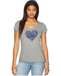 Life Is Good. - Open Heart Smooth Tee (heather Gray) Women's T Shirt - Lyst