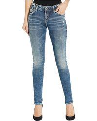 Silver Jeans Co. Mid-rise Skinny Leg Girlfriend Jeans L27137sjl388 - Blue
