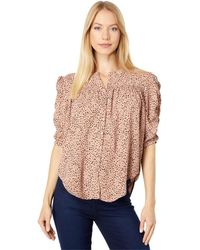 Bishop + Young Rachel Ruched Sleeve Blouse - Pink