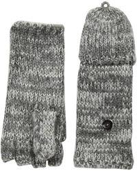Rebecca Minkoff - Subtle Mouline Pop Top Mittens (mallard Blue/black/black) Extreme Cold Weather Gloves - Lyst