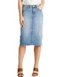 Lauren by Ralph Lauren Denim Skirt - Blue