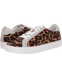 e77121328c13 J.Crew - Sneaker In Haircalf (rich Mahogany) Women s Shoes - Lyst