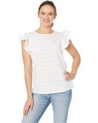 Mountain Khakis Flutter Short Sleeve Shirt (rose) Women's Clothing - White
