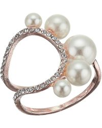 Guess - Cocktail Ring W/ Stones (rose Gold) Ring - Lyst