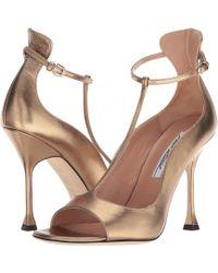 Brian Atwood - Samantha (bronze Metallic Nappa) Women's Shoes - Lyst