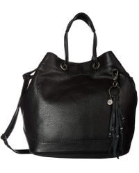 The Sak - Castella Leather Drawstring Bucket (slate Croco) Handbags - Lyst