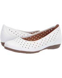 Gabor Ruffle Womens Punched Detail Casual Shoes - White